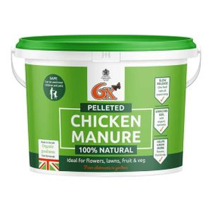 6X Chicken Pellet Manure 8kg Tub