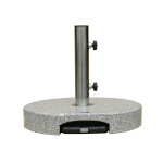 40Kg Granite Parasol Base with handle and wheels