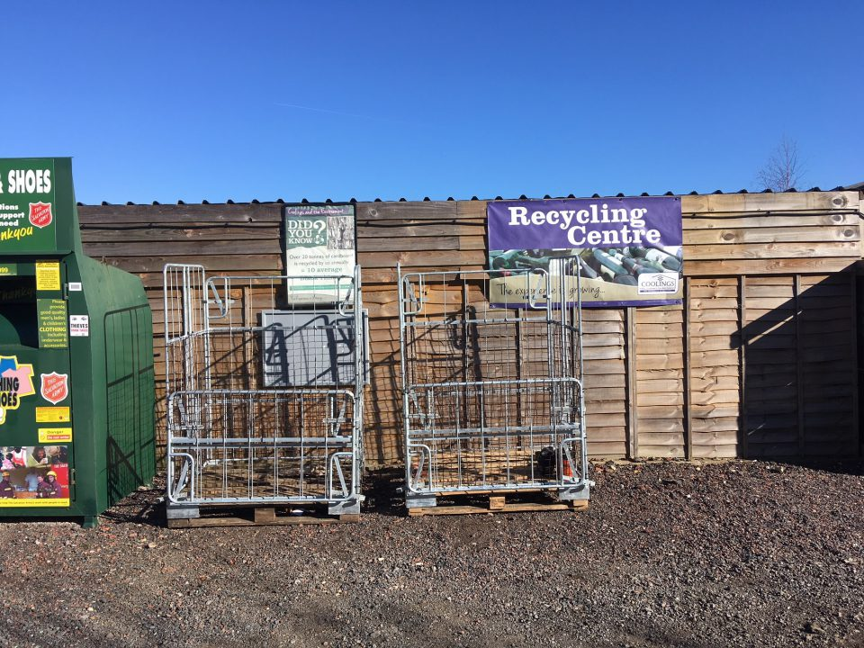 Our Recycling Area at Coolings, Rushmore Hill